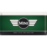 Placa metalica 25X50 Mini-Logo Green