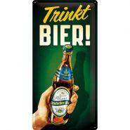Placa metalica 25X50 Trinkt Bier