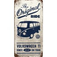 Placa metalica 25x50 Volkswagen Bulli - The Original Ride