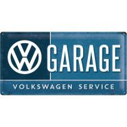 Placa metalica 25X50 VW Garage