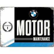 Placa metalica 30x40 BMW MOTOR