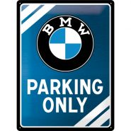 Placa metalica 30x40 BMW Parking Only Blue