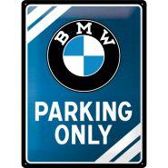 Placa metalica 30x40 BMW Parking Only Blue
