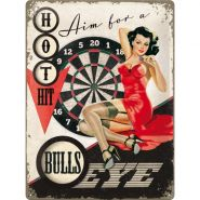 Placa metalica 30X40 Bulls Eye