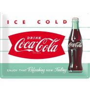 Placa metalica 30X40 Coca-Cola - Ice cold