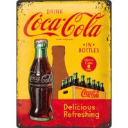 Placa metalica 30X40 Coca-Cola - In Bottles Yellow