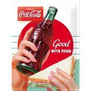 Placa metalica 30x40 Coca-Cola Good with Food