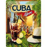 Placa metalica 30X40 Cuba Libre