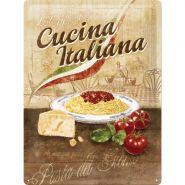 Placa metalica 30X40 Cucina Italiana