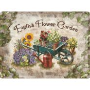 Placa metalica 30X40 English Flower Garden