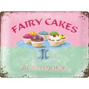 Placa metalica 30X40 Fairy Cakes