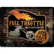 Placa metalica 30X40 Full Throttle