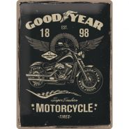 Placa metalica 30X40 Goodyear - Motorcycle