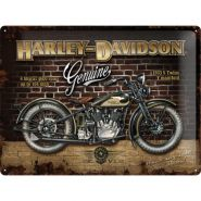 Placa metalica 30X40 Harley-Davidson 1933