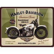 Placa metalica 30X40 Harley-Davidson 1936