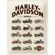 Placa metalica 30x40 Harley-Davidson Model Chart