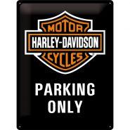 Placa metalica 30X40 Harley-Davidson Parking Only