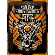 Placa metalica 30X40 Harley-Davidson Wild at Heart
