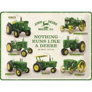 Placa metalica 30X40 John Deere Model Chart