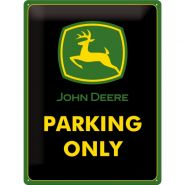 Placa metalica 30X40 John Deere Parking Only