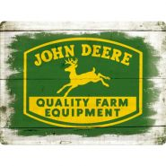 Placa metalica 30X40 John Deere Quality Farm Equipment - Wood