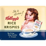 Placa metalica 30x40 Kellogg's Rice Crispies