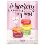 Placa metalica 30x40 Macarons de Paris