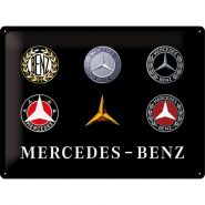 Placa metalica 30x40 Mercedes-Benz Logo Evolution