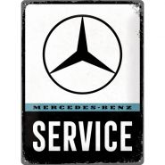 Placa metalica 30x40 Mercedes-Benz Service