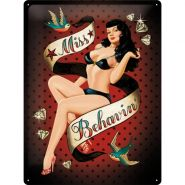 Placa metalica 30X40 Miss Behavin'