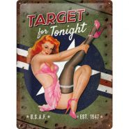 Placa metalica 30X40 Nose-Art Target for tonight