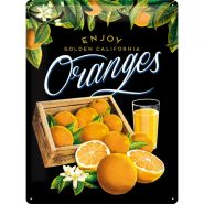 Placa metalica 30X40 Oranges black