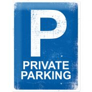 Placa metalica 30X40 Private Parking