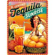 Placa metalica 30X40 Tequila Sunrise
