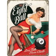 Placa metalica 30X40 The Eight ball