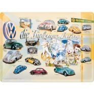 Placa metalica 30X40 VW - Funfziger Jahre