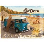 Placa metalica 30X40 VW - Ready for the beach