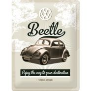 Placa metalica 30X40 VW - Retro Beetle