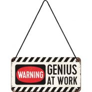 Placa metalica cu snur 10x20 Genius at work