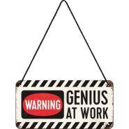Placa metalica cu snur 10x20 Genius at work