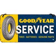 Placa metalica cu snur 10x20 Goodyear Service