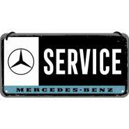 Placa metalica cu snur 10x20 Mercedes-Benz Service