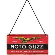 Placa metalica cu snur 10x20 Moto Guzzi logo