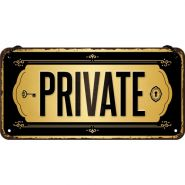 Placa metalica cu snur 10x20 Private