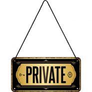 Placa metalica cu snur 10x20 Private
