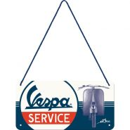 Placa metalica cu snur 10x20 Vespa Service