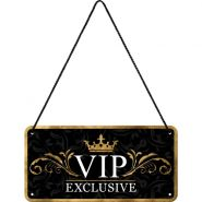 Placa metalica cu snur 10x20 VIP Exclusive
