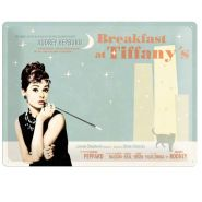 Placa metalica tip  Nu uita sa 30X40  Breakfast at Tiffany's