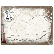 Placa metalica tip  Nu uita sa 30X40 Route 66 - Map