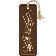Semn de carte metalic Chocolate is the answer